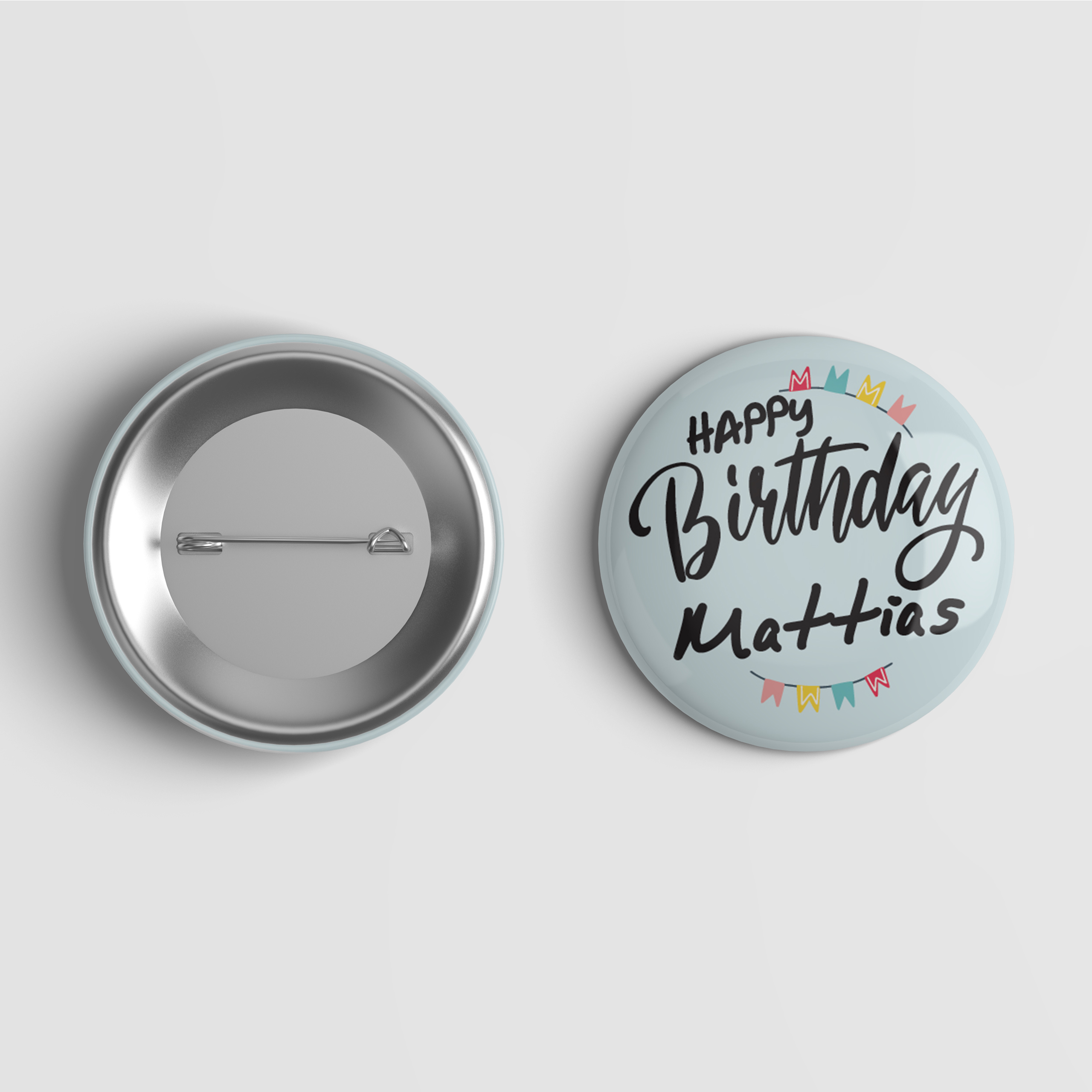 Happy Birthday Pin Button  Pin Buttons  Bday Pin Button
